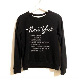 🍒2/20$ New York Typography Black White Sweatshirt